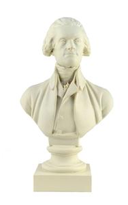 "Thomas Jefferson Bust in White (12"")"